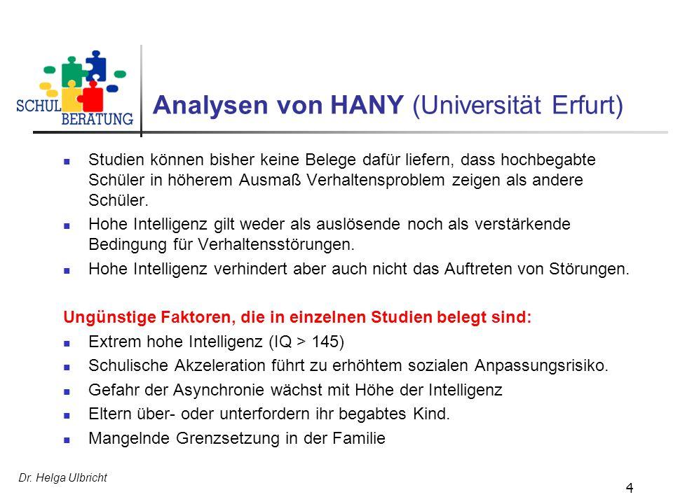Analysen von HANY (Universität Erfurt)