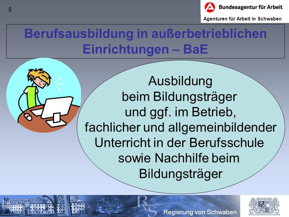 Berufsausbildung in außerbetrieblichen Einrichtungen – BaE