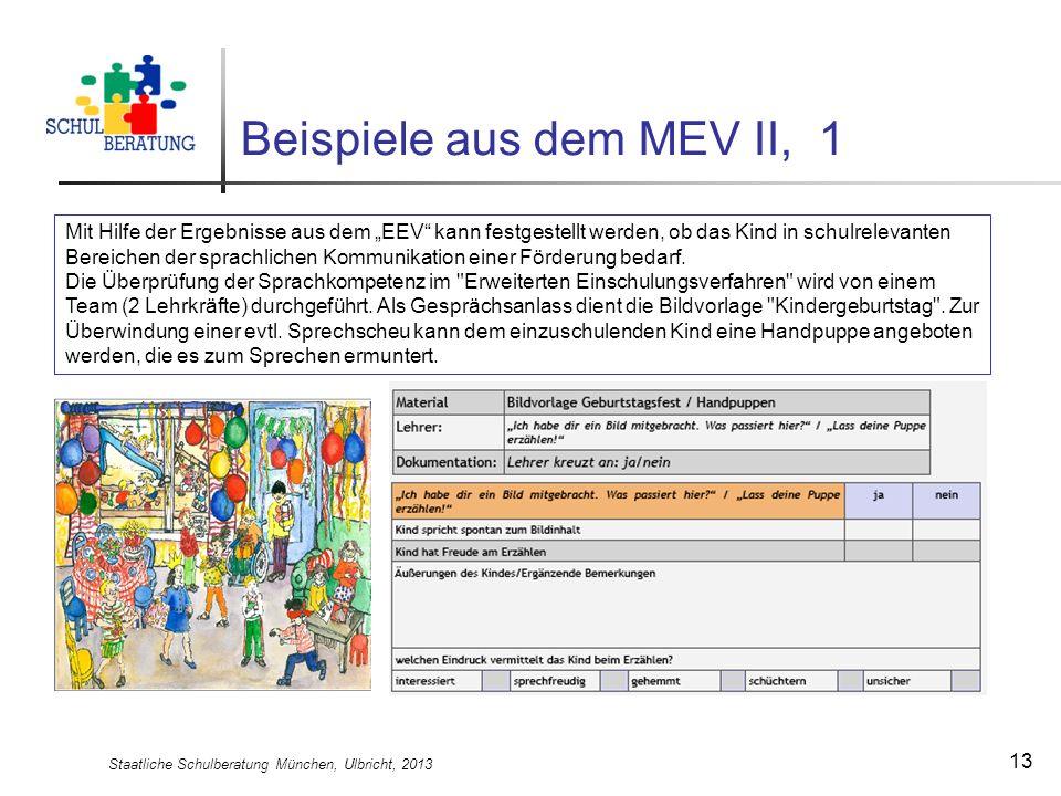 Beispiele aus dem MEV II, 1