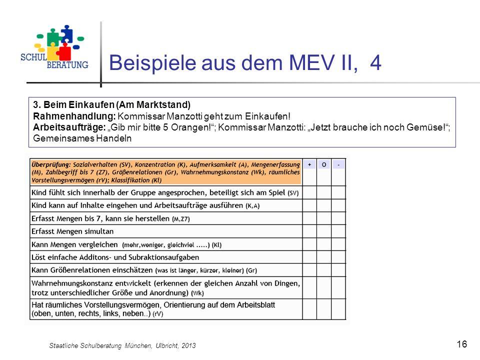 Beispiele aus dem MEV II, 4
