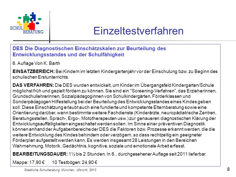 Staatliche Schulberatung München, Ulbricht, 2013