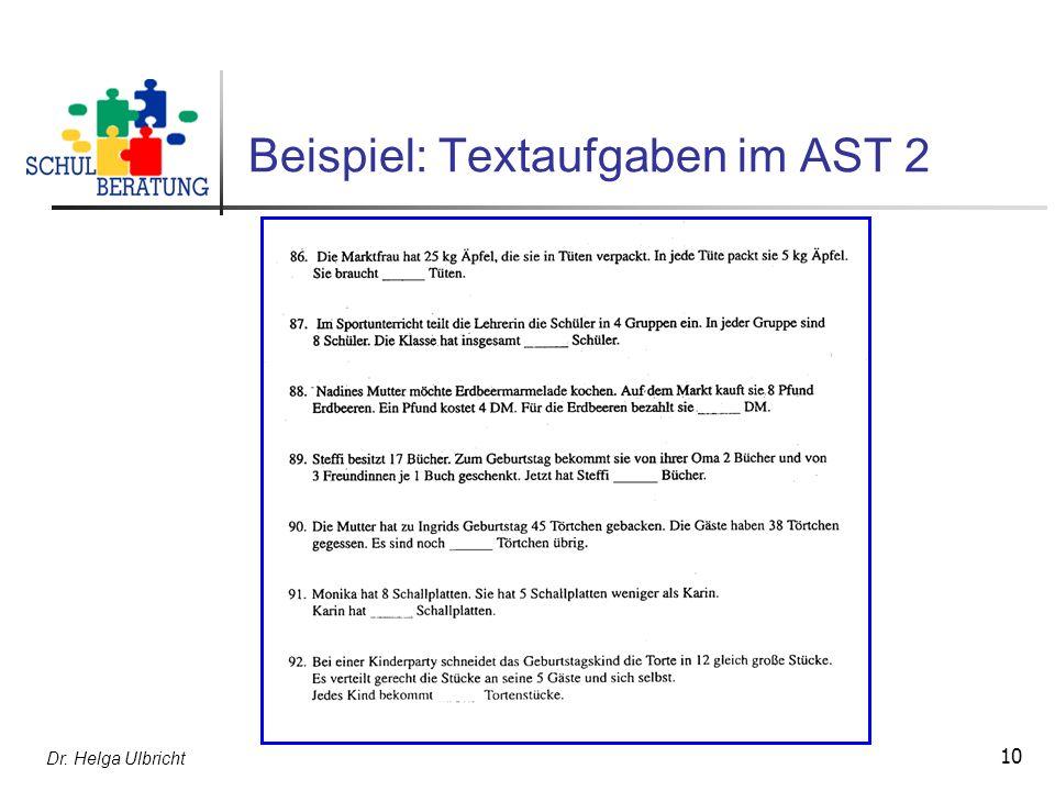 Beispiel: Textaufgaben im AST 2