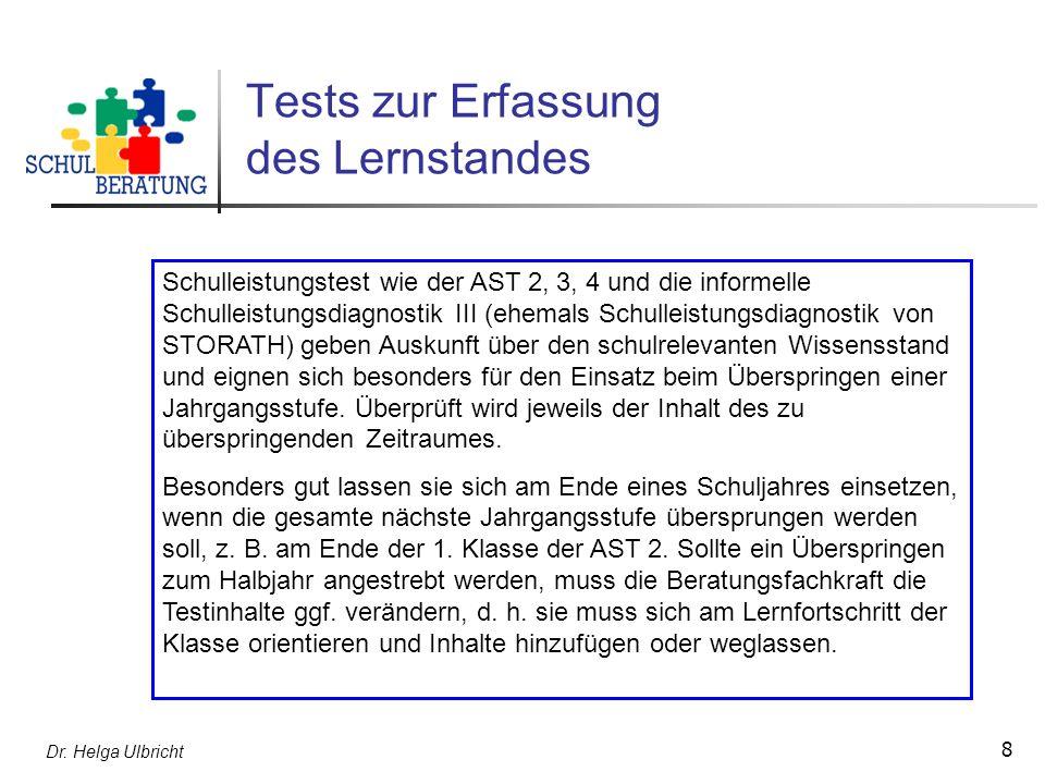 Tests zur Erfassung des Lernstandes