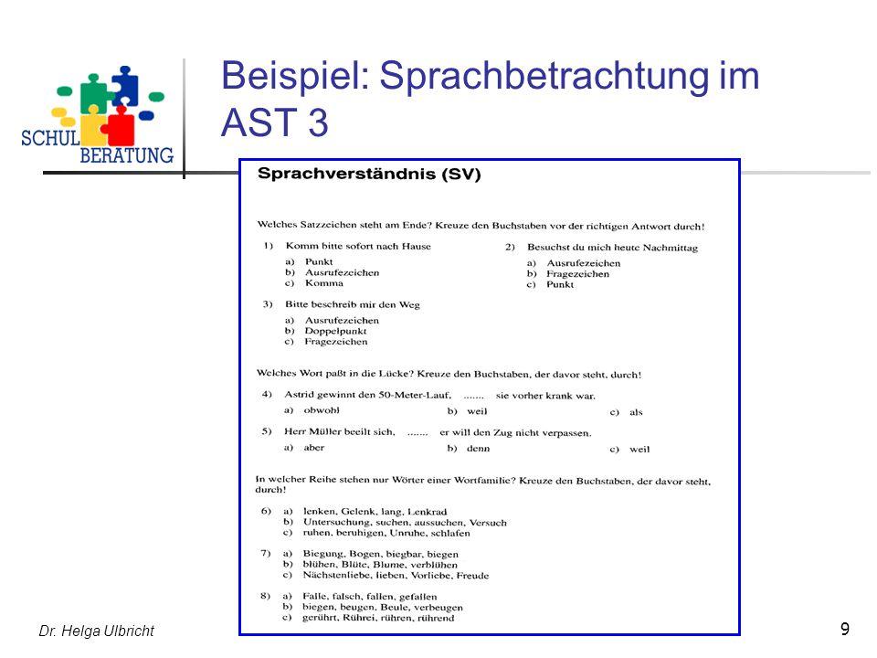 Beispiel: Sprachbetrachtung im AST 3