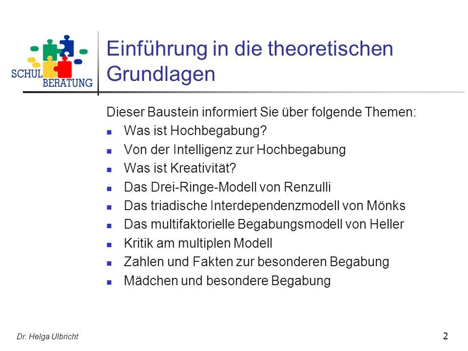 Einführung in die theoretischen Grundlagen