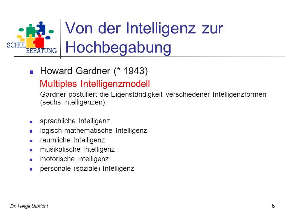 Von der Intelligenz zur Hochbegabung
