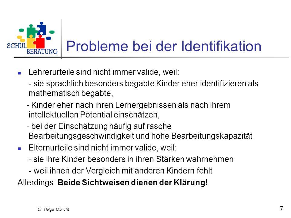 Probleme bei der Identifikation