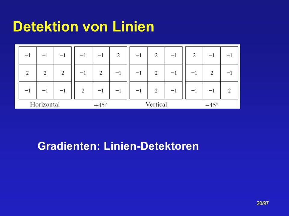 Gradienten: Linien-Detektoren