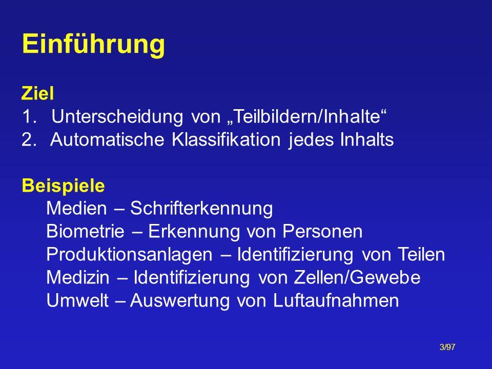 """Einführung Ziel Unterscheidung von """"Teilbildern/Inhalte"""