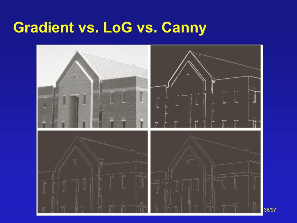 Gradient vs. LoG vs. Canny