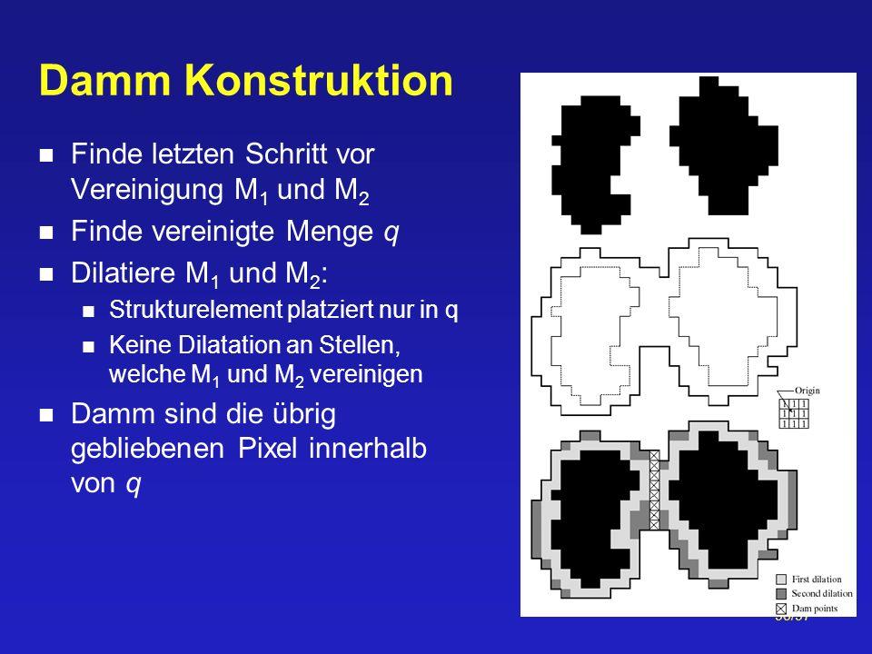 Damm Konstruktion Finde letzten Schritt vor Vereinigung M1 und M2