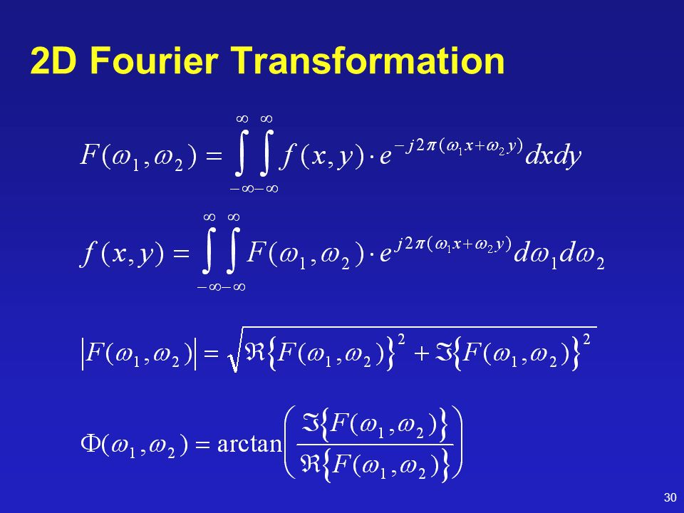 2D Fourier Transformation