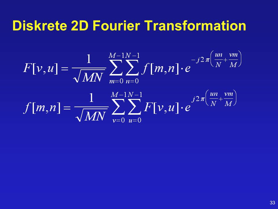Diskrete 2D Fourier Transformation