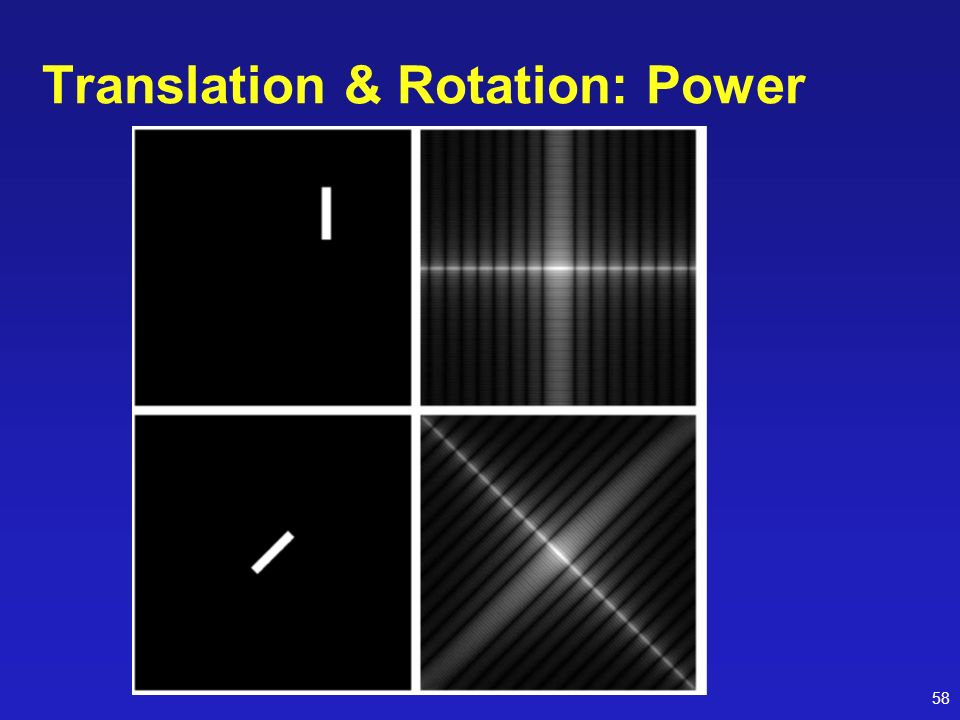 Translation & Rotation: Power