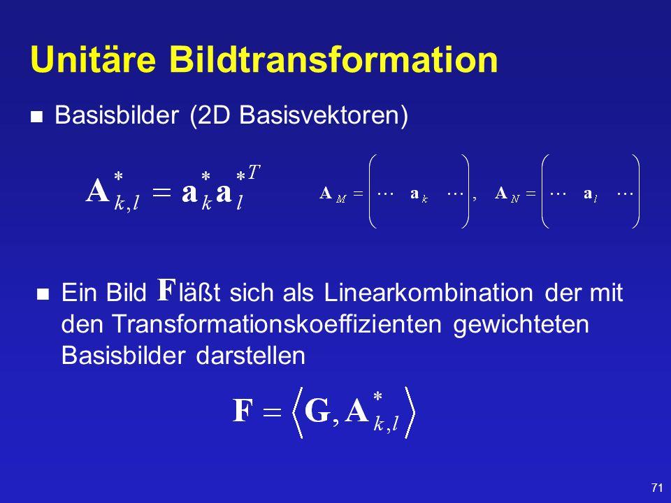 Unitäre Bildtransformation