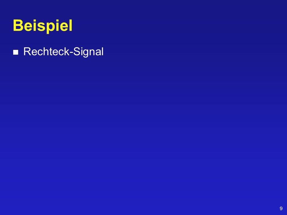 Beispiel Rechteck-Signal