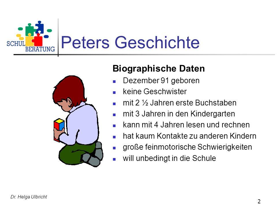 Peters Geschichte Biographische Daten Dezember 91 geboren