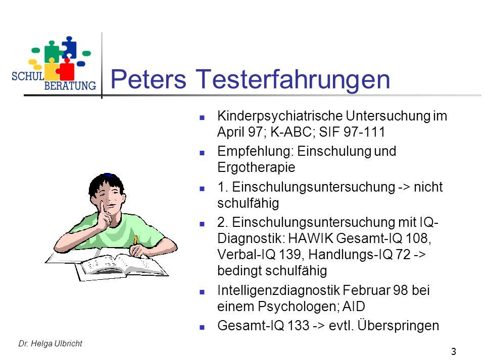Peters Testerfahrungen