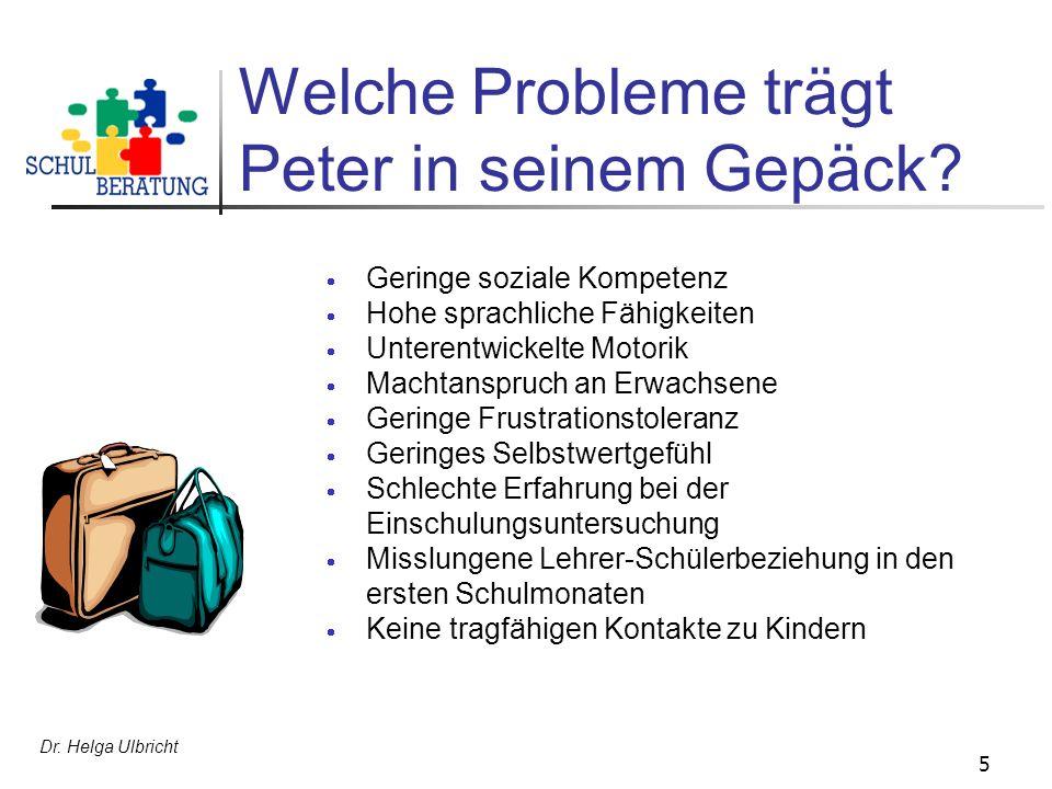 Welche Probleme trägt Peter in seinem Gepäck