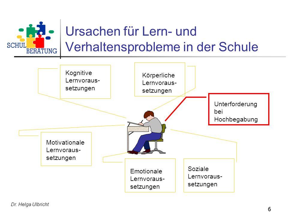 Ursachen für Lern- und Verhaltensprobleme in der Schule