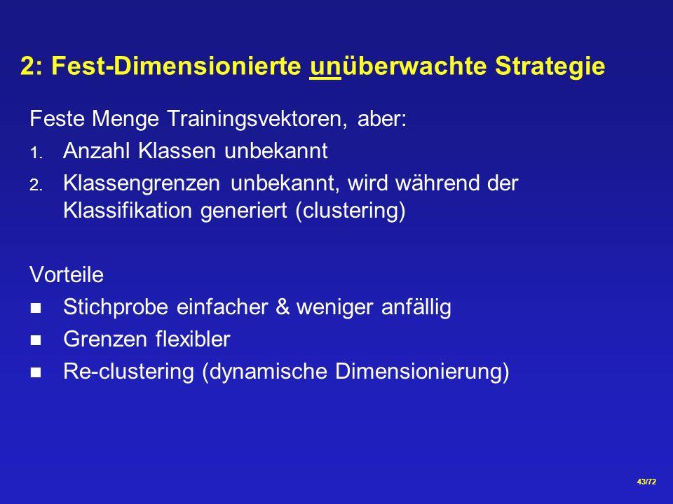 2: Fest-Dimensionierte unüberwachte Strategie