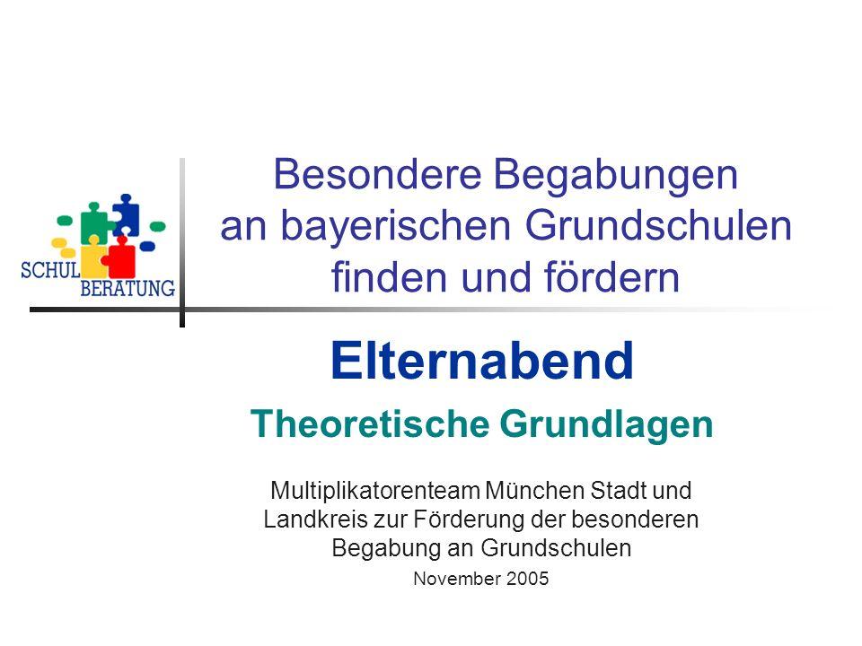Besondere Begabungen an bayerischen Grundschulen finden und fördern