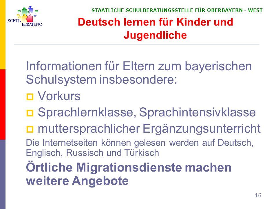Deutsch lernen für Kinder und Jugendliche