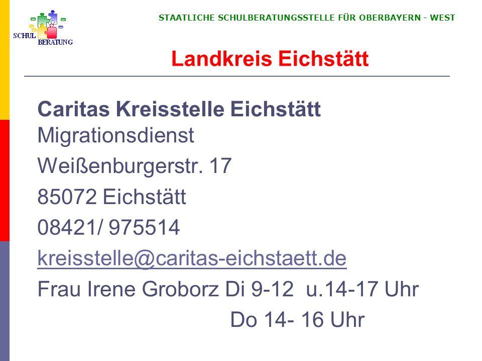 Caritas Kreisstelle Eichstätt Migrationsdienst Weißenburgerstr. 17