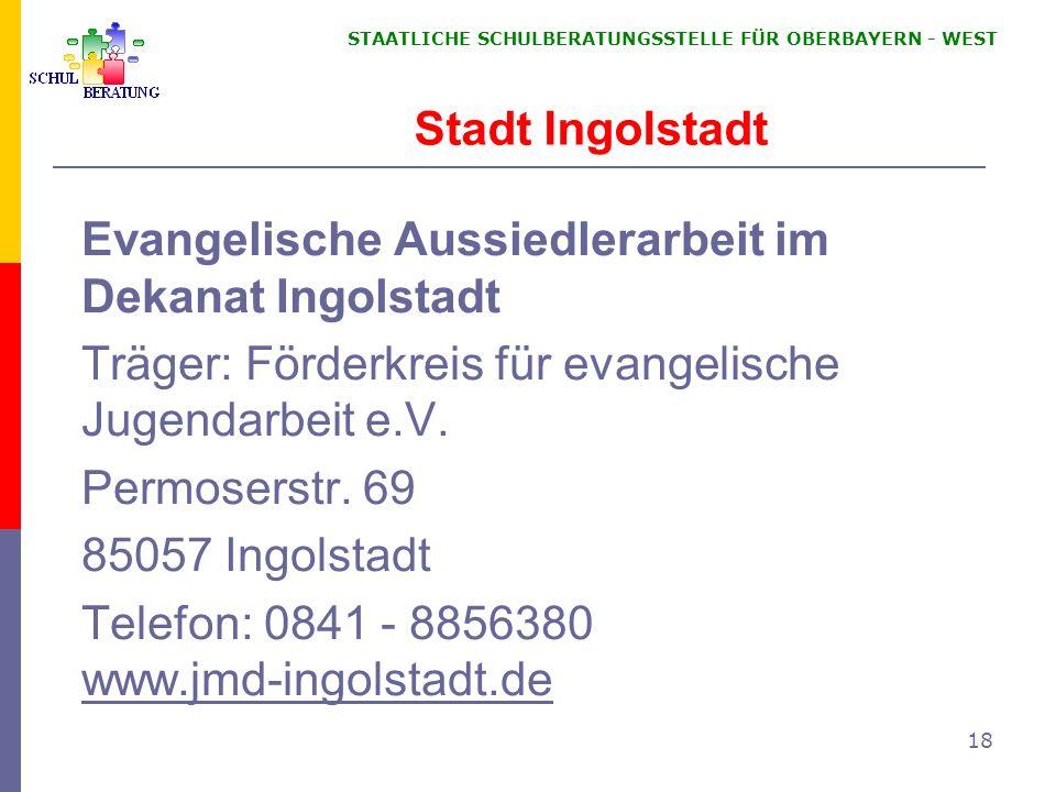 Evangelische Aussiedlerarbeit im Dekanat Ingolstadt