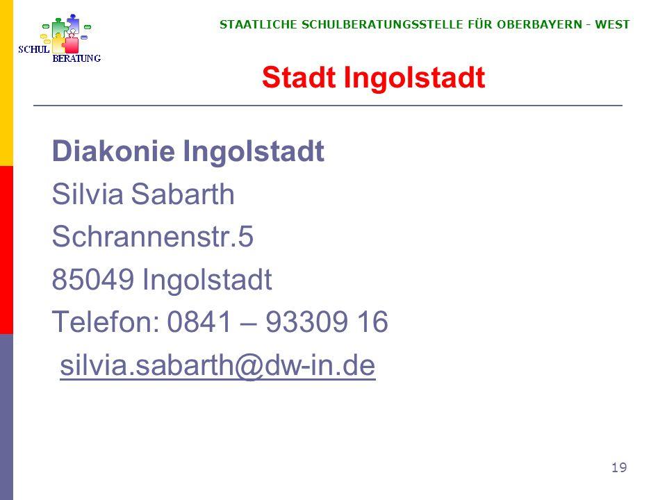 Stadt Ingolstadt Diakonie Ingolstadt Silvia Sabarth Schrannenstr.5
