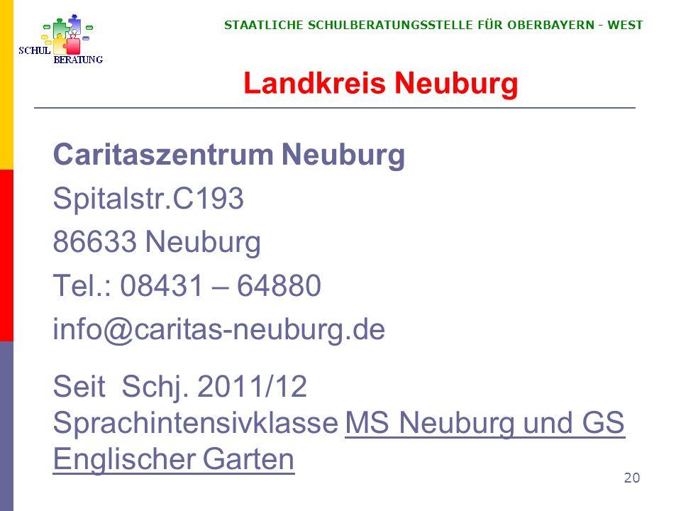 Caritaszentrum Neuburg Spitalstr.C193 86633 Neuburg