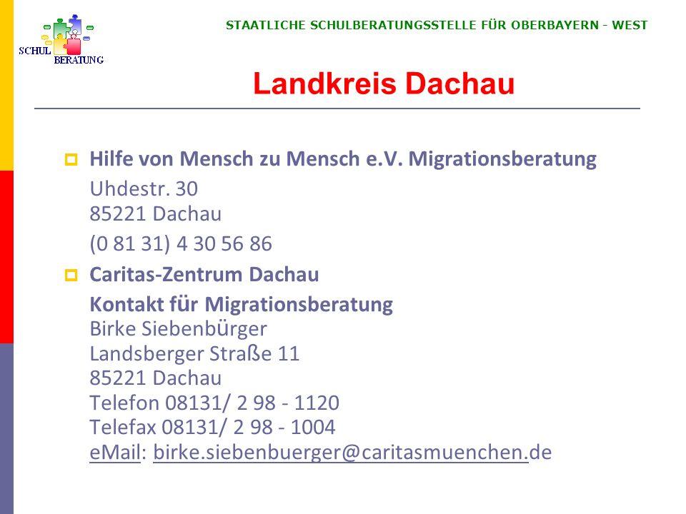 Landkreis Dachau Hilfe von Mensch zu Mensch e.V. Migrationsberatung