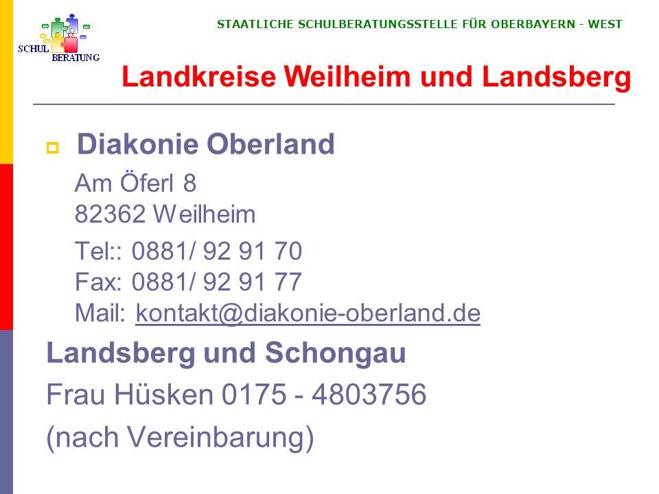 Landkreise Weilheim und Landsberg