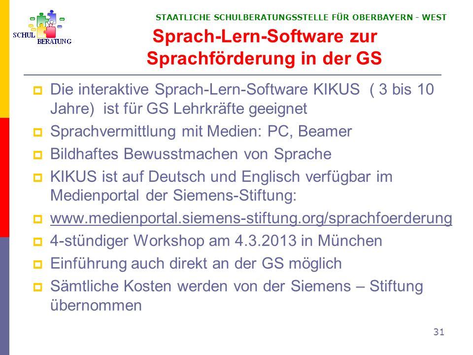 Sprach-Lern-Software zur Sprachförderung in der GS