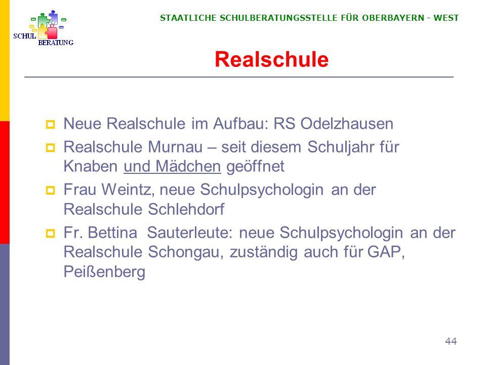 Realschule Neue Realschule im Aufbau: RS Odelzhausen