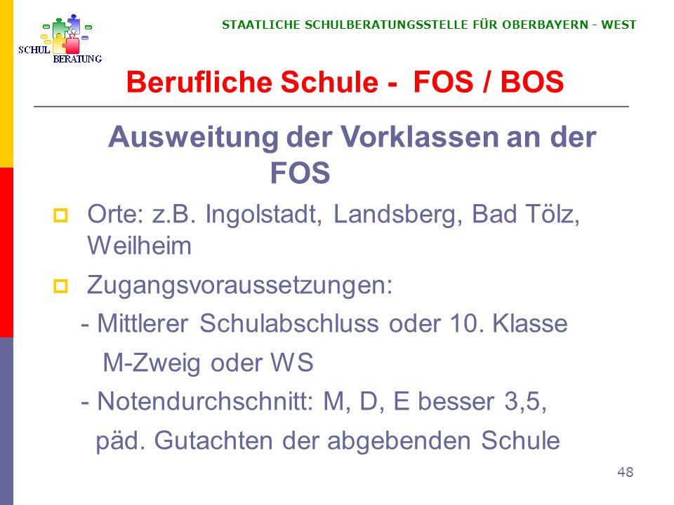 Berufliche Schule - FOS / BOS