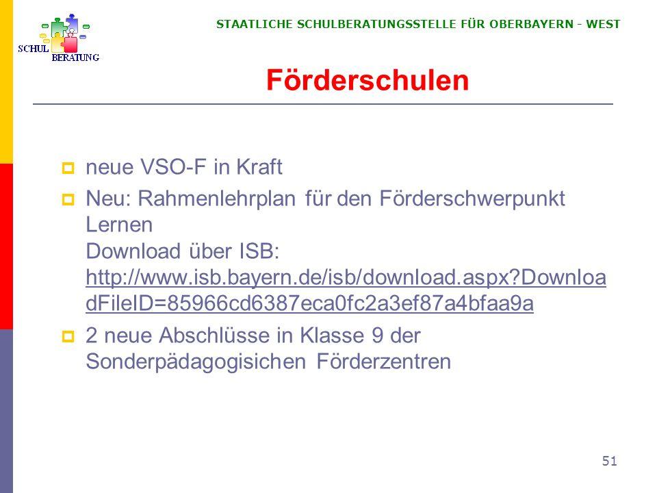 Förderschulen neue VSO-F in Kraft
