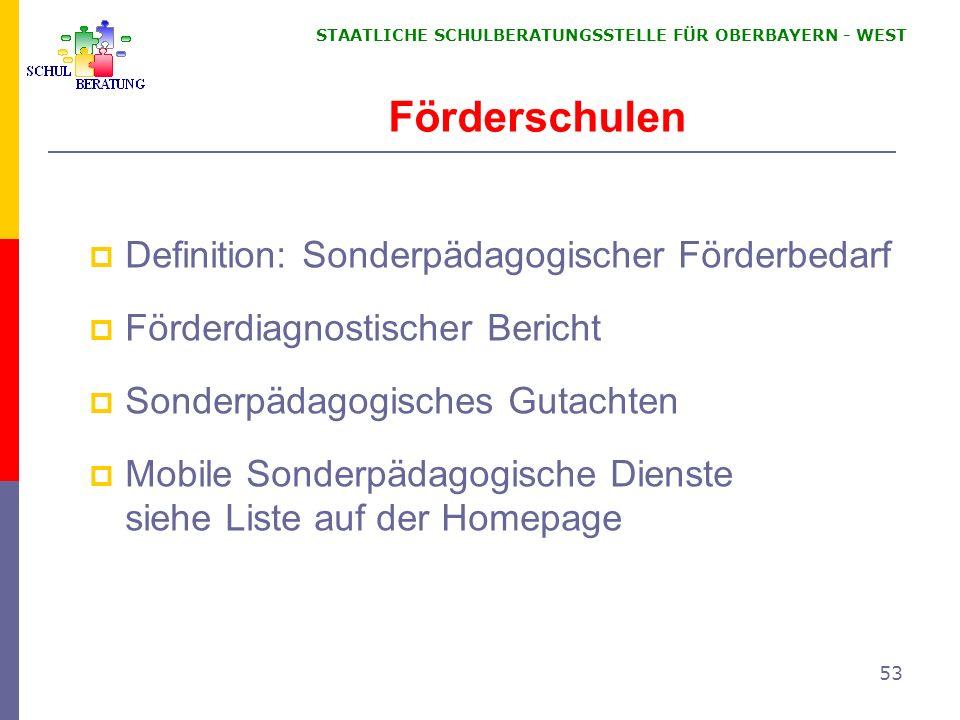 Förderschulen Definition: Sonderpädagogischer Förderbedarf