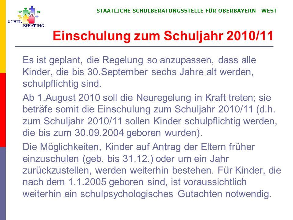 KMBek – 23. November 2001 Schulberatung in Bayern