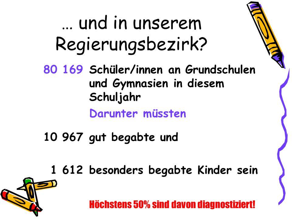… und in unserem Regierungsbezirk