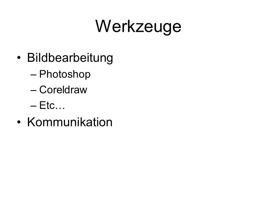 Werkzeuge Bildbearbeitung Photoshop Coreldraw Etc… Kommunikation