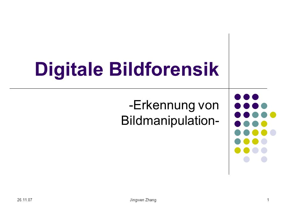 Digitale Bildforensik