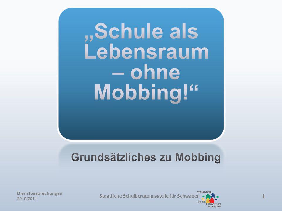 """""""Schule als Lebensraum – ohne Mobbing!"""