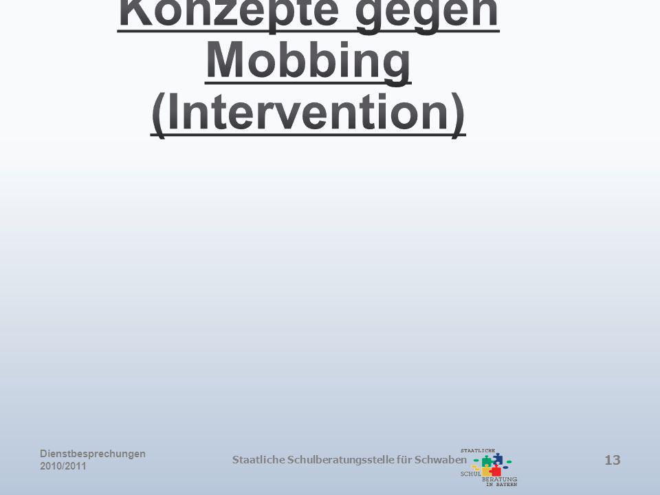 Konzepte gegen Mobbing (Intervention)