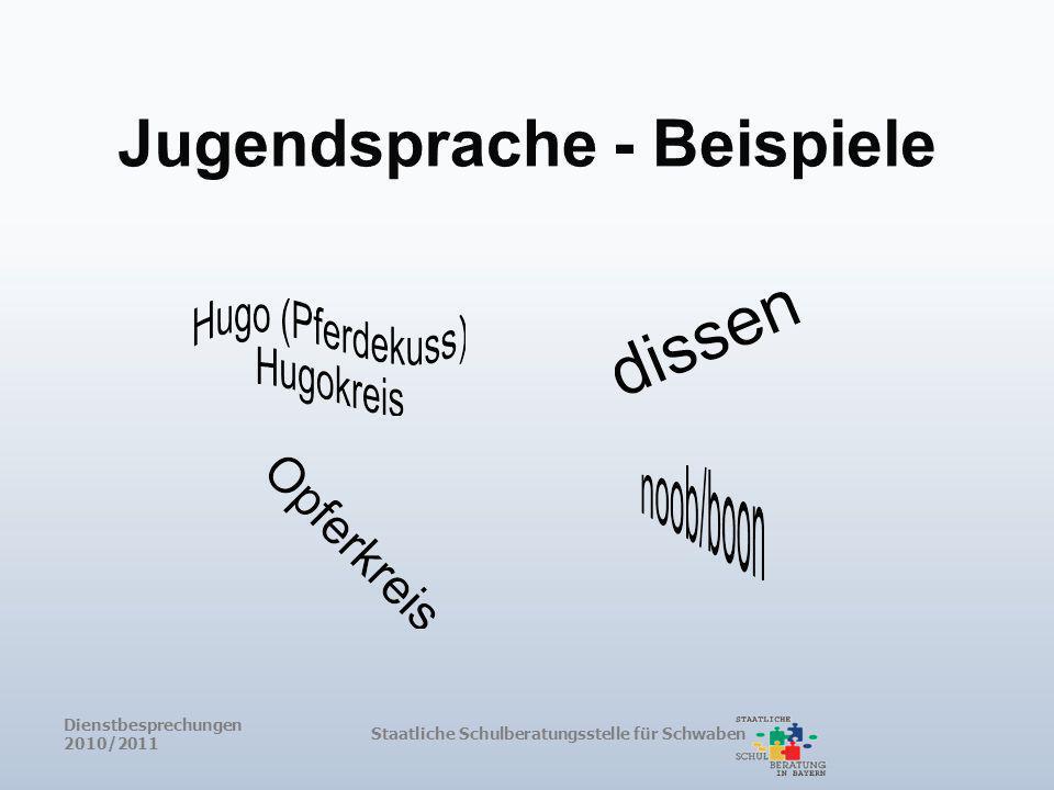 Jugendsprache - Beispiele