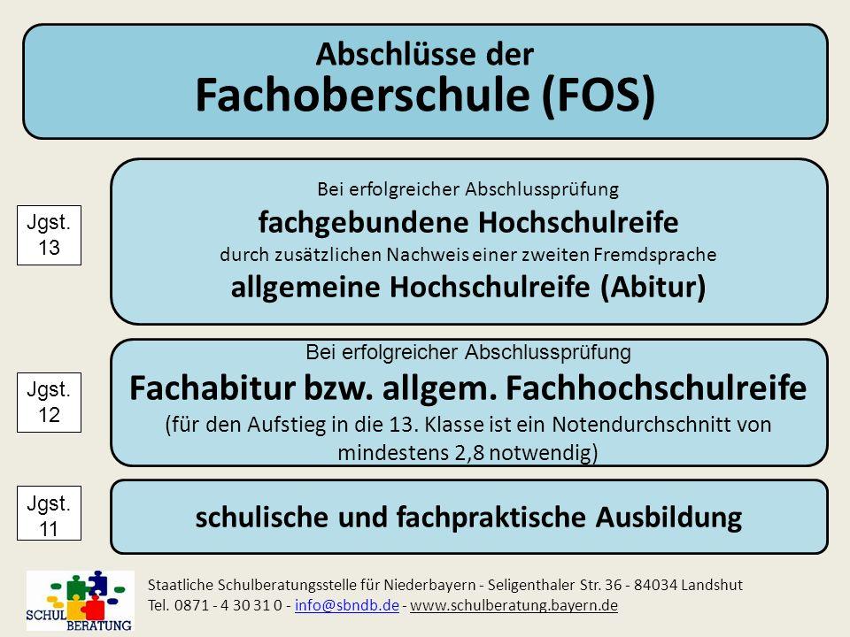 Fachoberschule (FOS) Fachabitur bzw. allgem. Fachhochschulreife