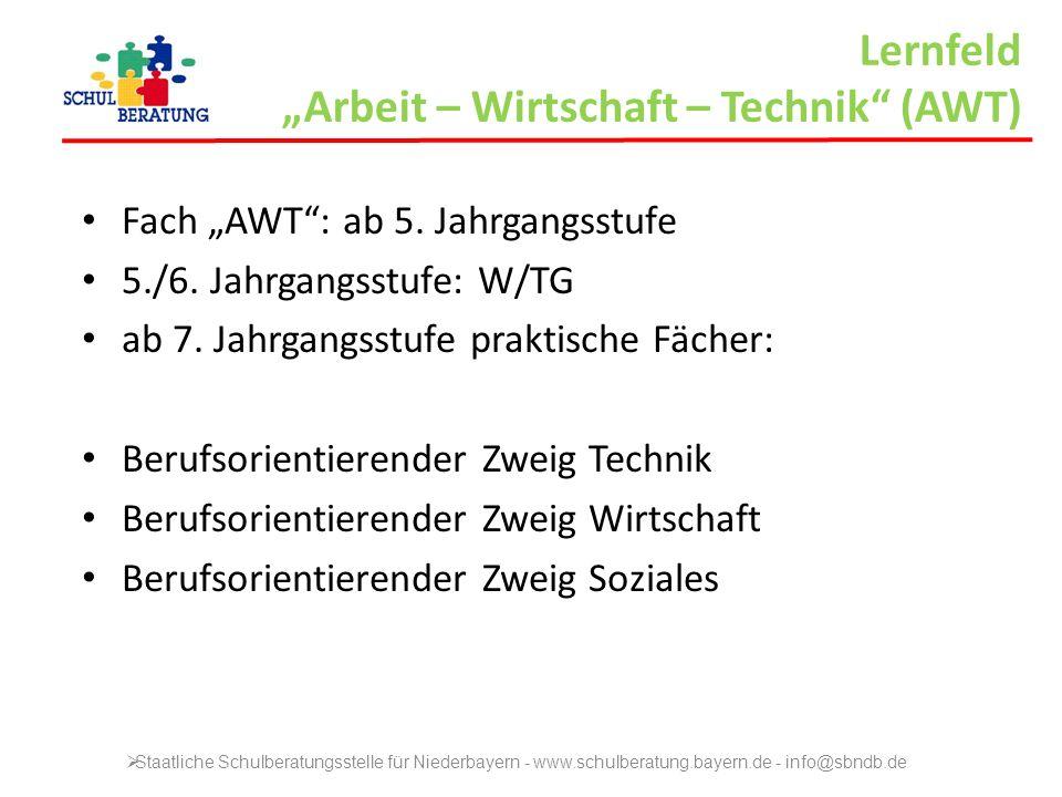 """Lernfeld """"Arbeit – Wirtschaft – Technik (AWT)"""