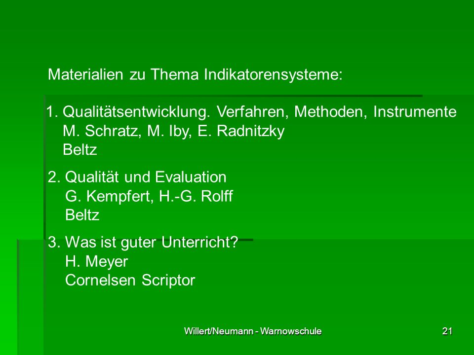 Willert/Neumann - Warnowschule