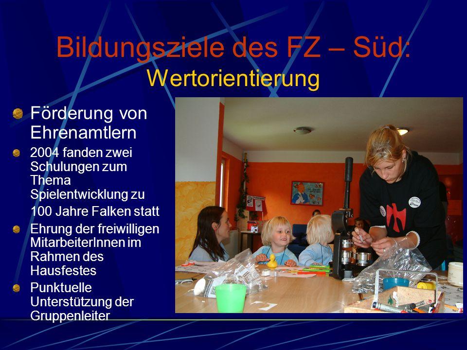 Bildungsziele des FZ – Süd: Wertorientierung