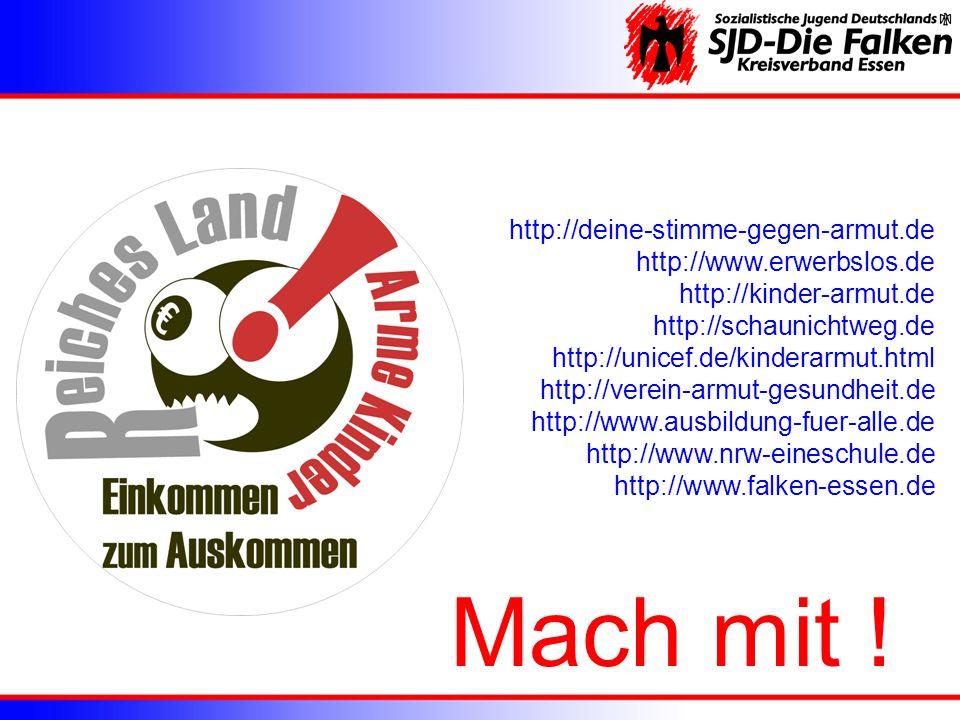 Mach mit ! http://deine-stimme-gegen-armut.de http://www.erwerbslos.de